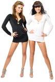 flickor sexiga två Arkivfoto