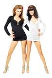 flickor sexiga två Royaltyfri Foto