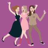 Flickor som går att skratta tillsammans, har roligt kamratskap Royaltyfri Bild