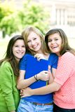 flickor som ler barn Fotografering för Bildbyråer