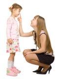 flickor som ler två Fotografering för Bildbyråer