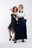 flickor som ler två Royaltyfri Foto
