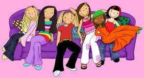 flickor som ut hänger Royaltyfria Foton