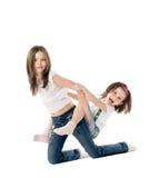 flickor stygga två Arkivbilder
