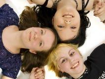 flickor teen tre Arkivbild