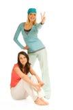 flickor tonårs- två royaltyfri fotografi
