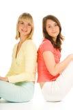 flickor tonårs- två Arkivfoto