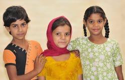 flickor tre Royaltyfri Bild