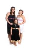 flickor tre Arkivfoto