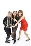 flickor tre Arkivbild