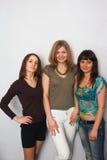 flickor tre Royaltyfria Bilder