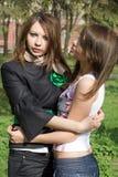 flickor trevliga två Royaltyfri Fotografi