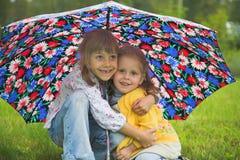 flickor två Royaltyfri Bild