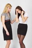 flickor två Arkivbild