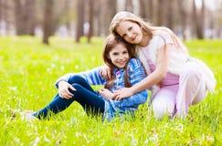 flickor två Royaltyfria Foton