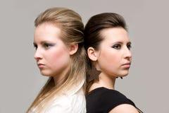 flickor två Arkivbilder
