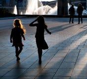 flickor två barn Fotografering för Bildbyråer
