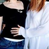 flickor två Royaltyfria Bilder