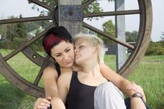 flickor två Royaltyfri Fotografi