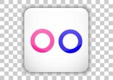 Flickr social media icon design white square background Royalty Free Stock Photos
