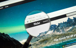 Flickr web page Royalty Free Stock Photography