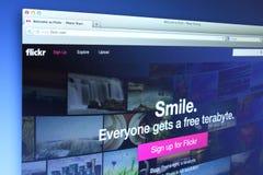 Flickrwebsite Stock Afbeelding