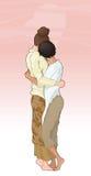 flickvänförälskelse stock illustrationer