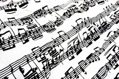Fließschemamusik Stockfoto