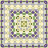 Flieder und Gelb farbiges Taschentuch Stockbilder
