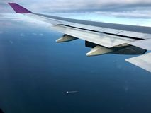 Fliege über dem Wintermeer Lizenzfreies Stockbild