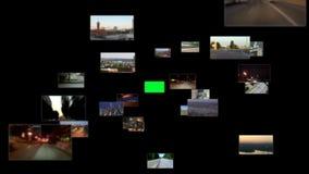 Fliege durch Medien-Raum stock footage