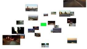 Fliege durch Medien-Raum stock video footage