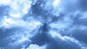Fliege durch Wolken 3 stock footage