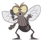 Fliege am Handy Lizenzfreies Stockbild