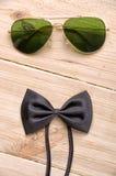Fliege und Sonnenbrille Lizenzfreie Stockfotos