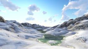 Fliegen über Berge am sonnigen Tag stock video