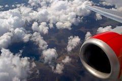 Fliegen über die englische Landschaft Lizenzfreie Stockbilder