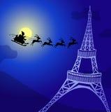 Fliegen über Frankreich stock abbildung