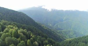 Fliegen über Hochgebirge stock video