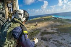 Fliegen über Klein Curaçao Lizenzfreies Stockfoto
