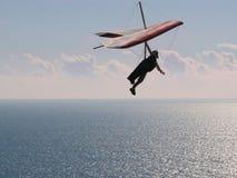 Fliegen in den Sonnenuntergang Lizenzfreies Stockbild