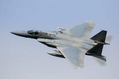 Fliegen des Kampfflugzeugs F15 Stockfotos