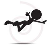 Fliegen des Mannes 3d mit den Händen öffnet sich Lizenzfreie Stockfotografie