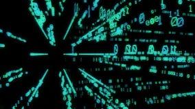 Fliegen in die virtuelle Realität mit binär Code stock footage