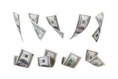 Fliegen-Dollar-Geld Lizenzfreies Stockbild