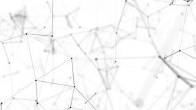 Fliegen durch die Schwarzweiss-Verwicklung von Linien stock footage