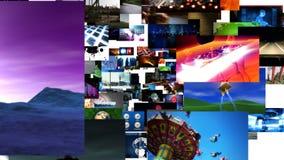 Fliegen durch Video-Matrix stock abbildung