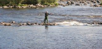 Fliegen-Fischen Lizenzfreies Stockfoto