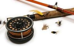 Fliegen-Fischen lizenzfreies stockbild