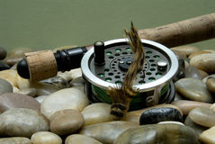 Fliegen-Fischen VI Stockfotografie